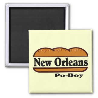 New Orleans Po Boy Magnet