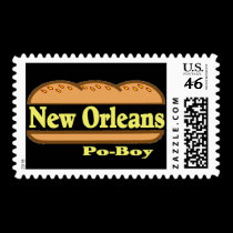 New Orleans Po Boy stamps