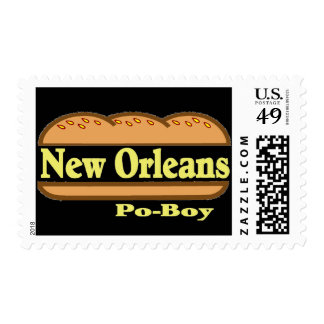 New Orleans Po Boy Postage Stamps