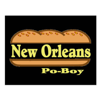 New Orleans Po Boy Postcard