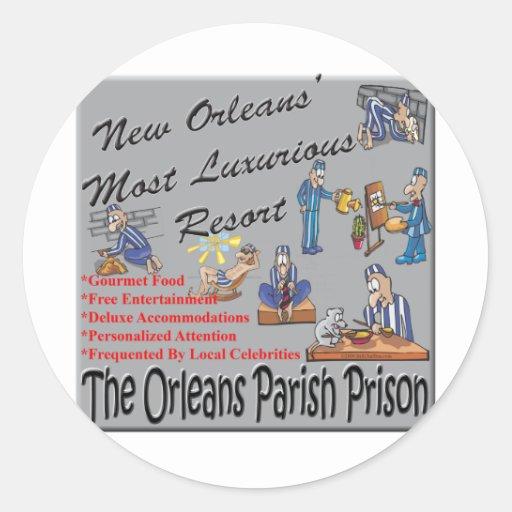 New Orleans Resort.png Pegatina Redonda