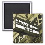 New Orleans Restaurants 2 Inch Square Magnet