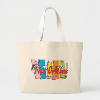 New-Orleans-Retro Large Tote Bag