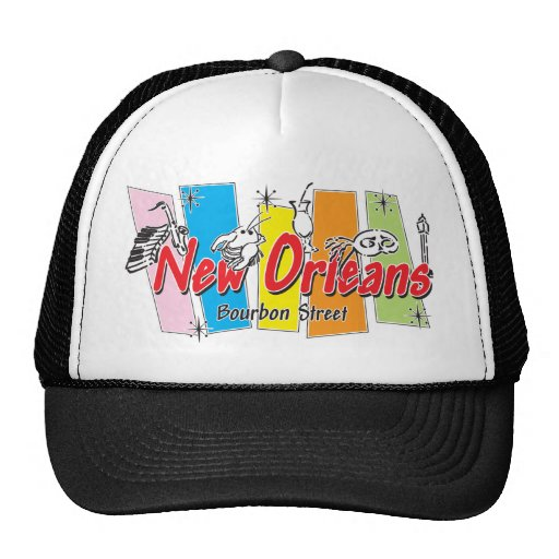 New Orleans Retro Look Mesh Hat