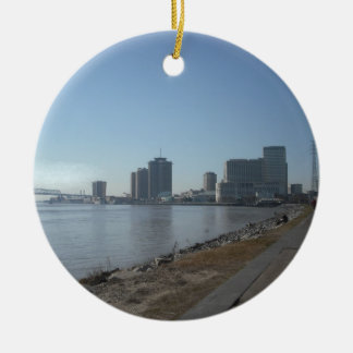 New Orleans River Front Ceramic Ornament