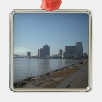 New Orleans River Front Metal Ornament