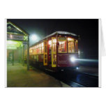 New Orleans Riverfront Streetcar in the Fog Greeting Cards