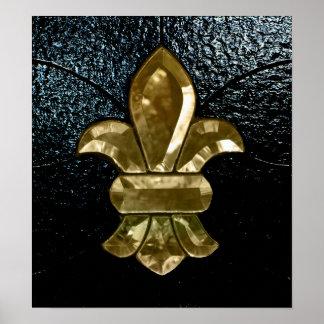 New Orleans Saints Logo Fleur De Lis Poster