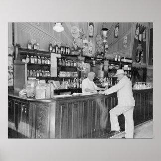 New Orleans Saloon, 1938. Foto del vintage Póster
