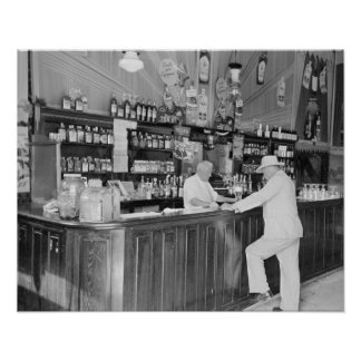New Orleans Saloon, 1938. Vintage Photo Poster