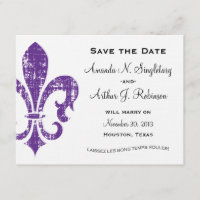 New Orleans | Save the Date | Purple