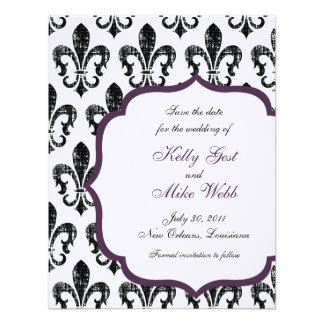 New Orleans Save the Date - Purple Personalized Invitations