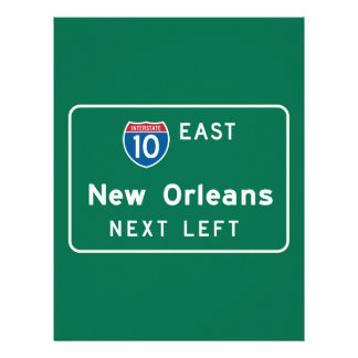 New Orleans señal de tráfico del LA Membrete Personalizado