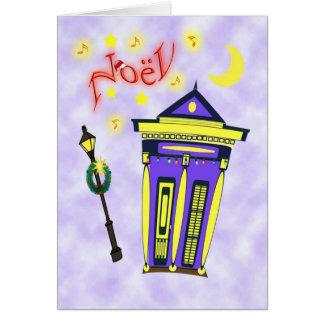 New Orleans Shot Gun House Noël Greeting Card