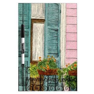 New Orleans Shutters Dry-Erase Board