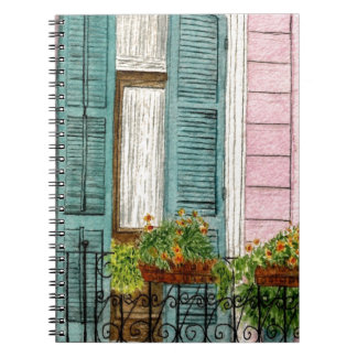 New Orleans Shutters Spiral Note Book