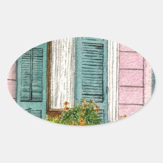 New Orleans Shutters Oval Sticker