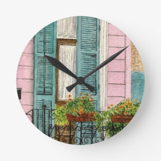 New Orleans Shutters Round Clock