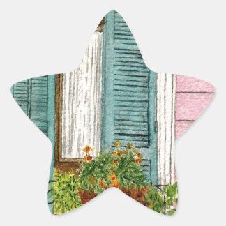 New Orleans Shutters Star Sticker