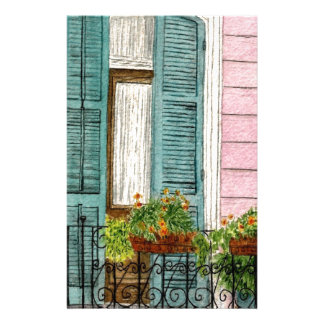 New Orleans Shutters Stationery