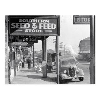 New Orleans Sidewalk, 1935 Postcard