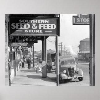 New Orleans Sidewalk, 1935 Poster