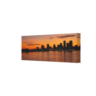 New Orleans Skyline At Sunset Stretch Canvas Print