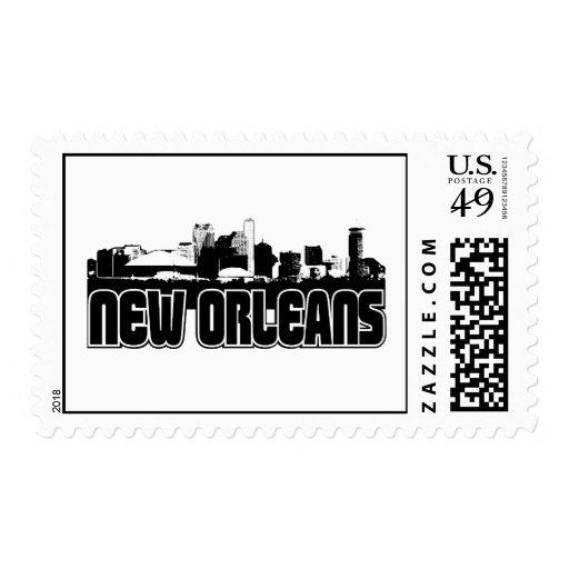 New Orleans Skyline Postage