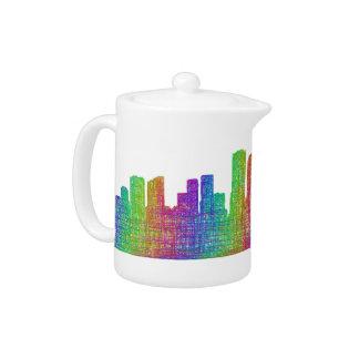 New Orleans skyline Teapot