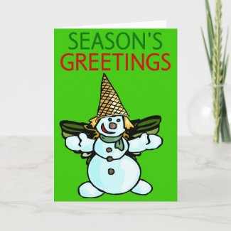 New Orleans Snowman Adult card. New Orleans Snowman Adult by figstreetstudio