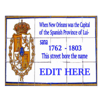 New Orleans Spanish Tile Mural Card Post Cards