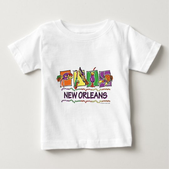 NEW-ORLEANS-SQUARES-eps copy Baby T-Shirt