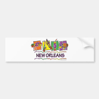 NEW-ORLEANS-SQUARES-eps copy Car Bumper Sticker