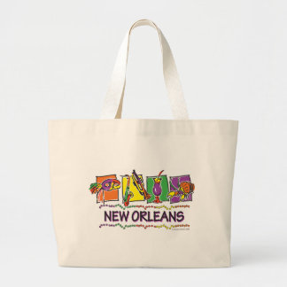 NEW-ORLEANS-SQUARES-eps copy Jumbo Tote Bag