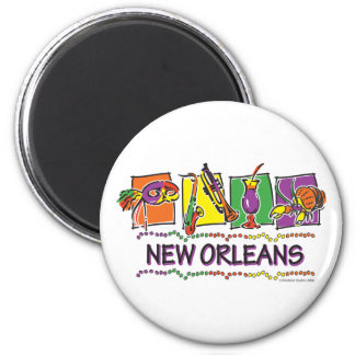 NEW-ORLEANS-SQUARES-eps copy 2 Inch Round Magnet
