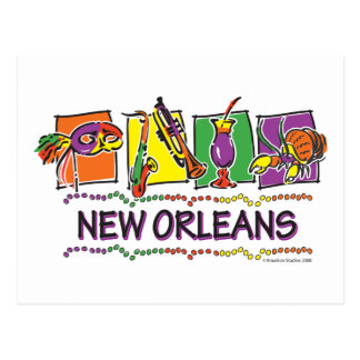 NEW-ORLEANS-SQUARES-eps copy Postcard