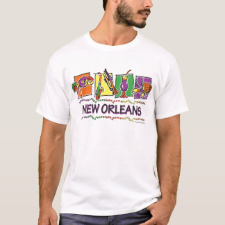 NEW-ORLEANS-SQUARES-eps copy T-Shirt
