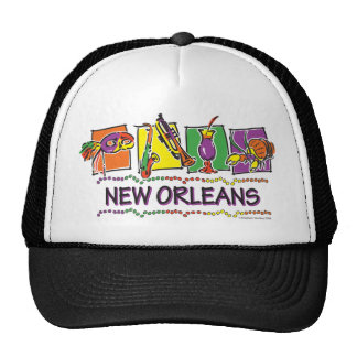 NEW-ORLEANS-SQUARES-eps copy Trucker Hat