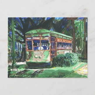 New Orleans St. Charles Streetcar Postcard