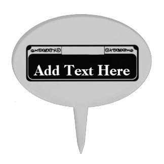 New Orleans St. Small Plastic Sign Cake Topper