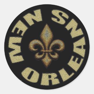 New Orleans Round Stickers