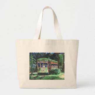 New Orleans Street Car Large Tote Bag
