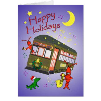 New Orleans Street Car Merry Christmas Card