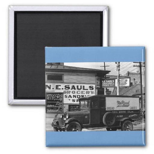 New Orleans street corner  Louisiana Fridge Magnet