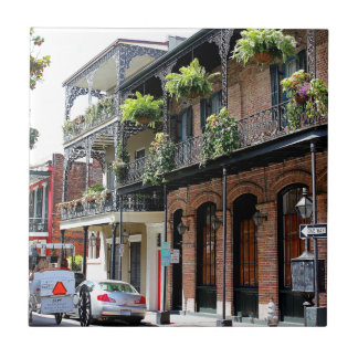 New Orleans Street Scene Ceramic Tile
