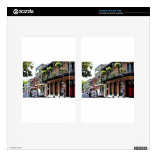 New Orleans Street Scene Decals For Kindle Fire