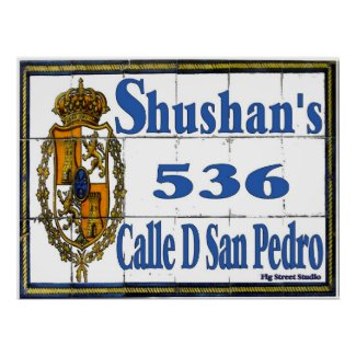 New Orleans Street Tile Mural Signs print