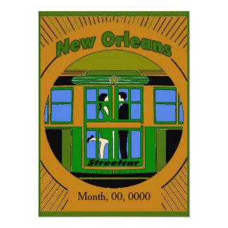 New Orleans Streetcar Art Deco Card