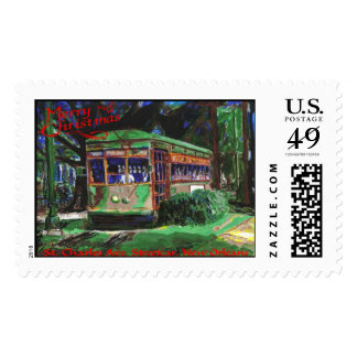 New Orleans Streetcar Christmas Postage