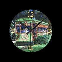 New Orleans Streetcar Clock Face wall clocks